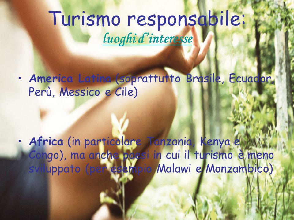 Turismo responsabile: luoghi d'interesse