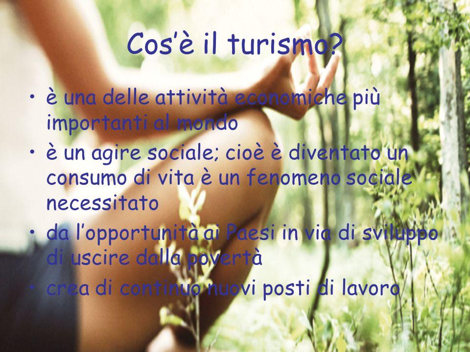Cos'è il turismo è una delle attività economiche più importanti al mondo.