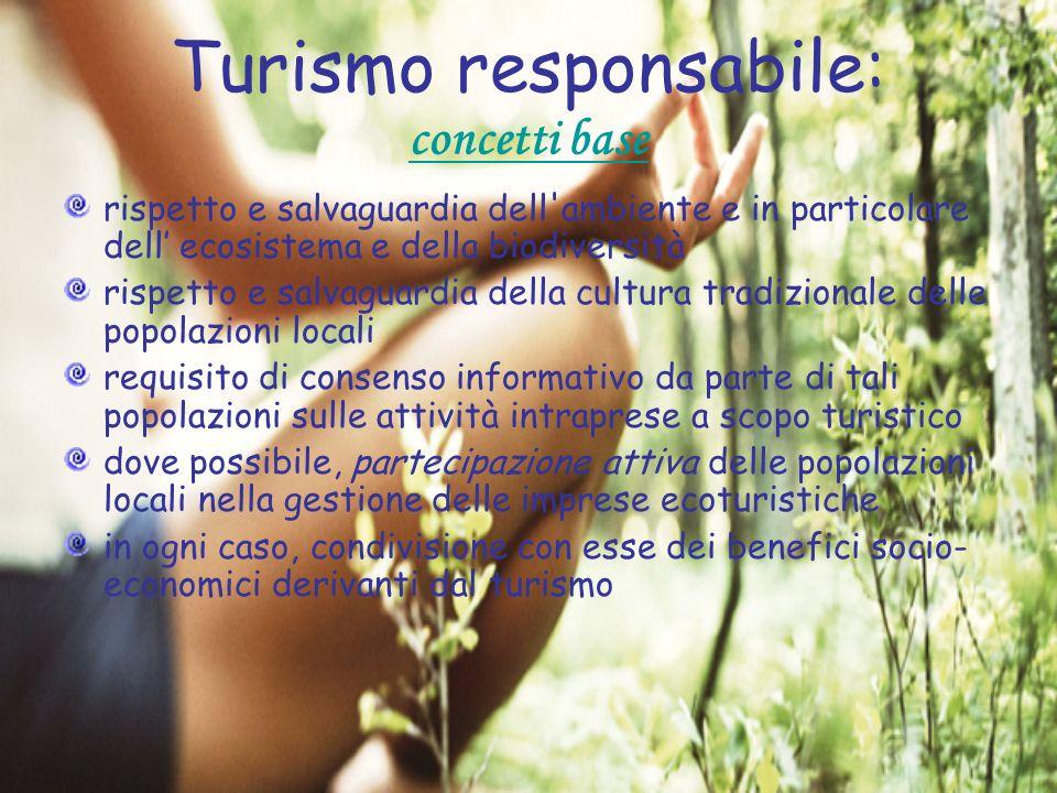 Turismo responsabile: concetti base