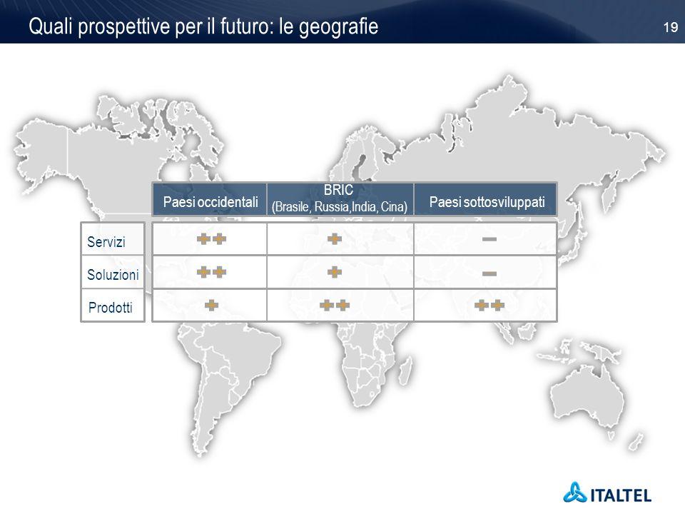 Quali prospettive per il futuro: le geografie