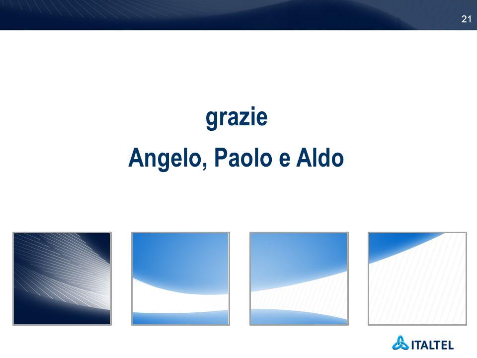grazie Angelo, Paolo e Aldo