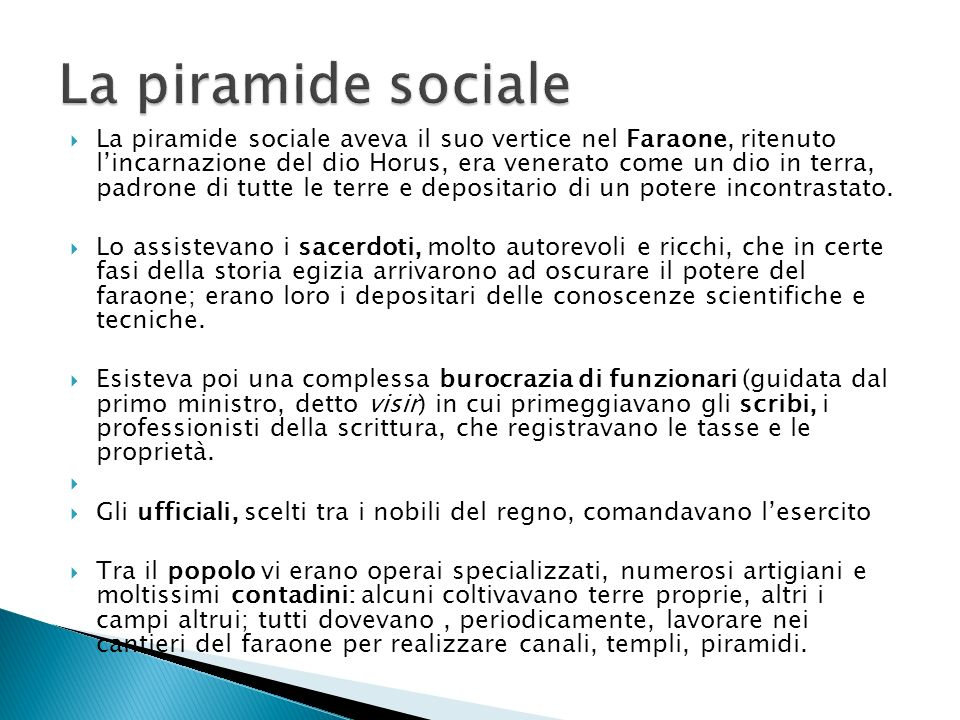 La piramide sociale