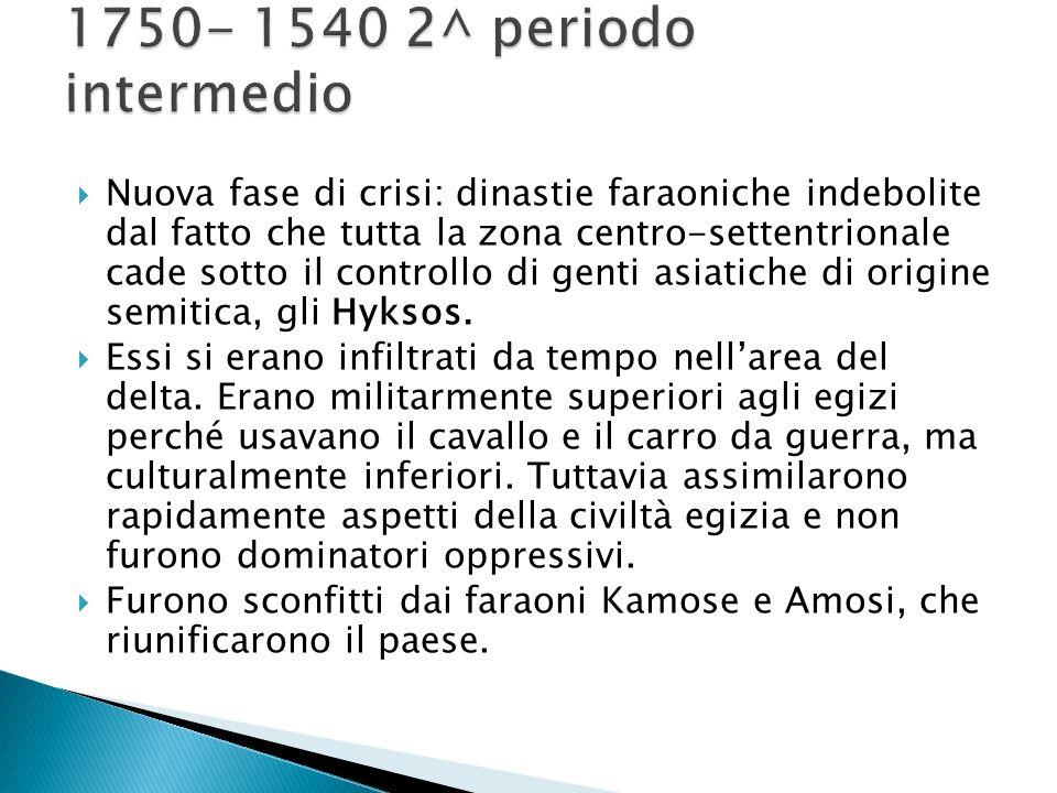 1750- 1540 2^ periodo intermedio