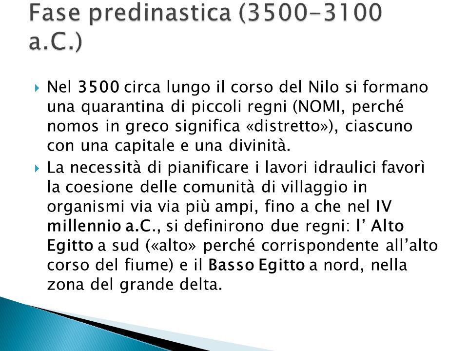 Fase predinastica (3500-3100 a.C.)
