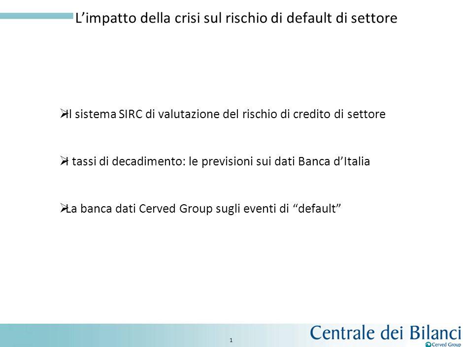 L'impatto della crisi sul rischio di default di settore