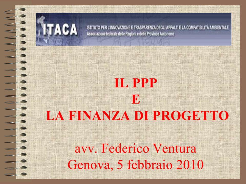IL PPP E LA FINANZA DI PROGETTO avv