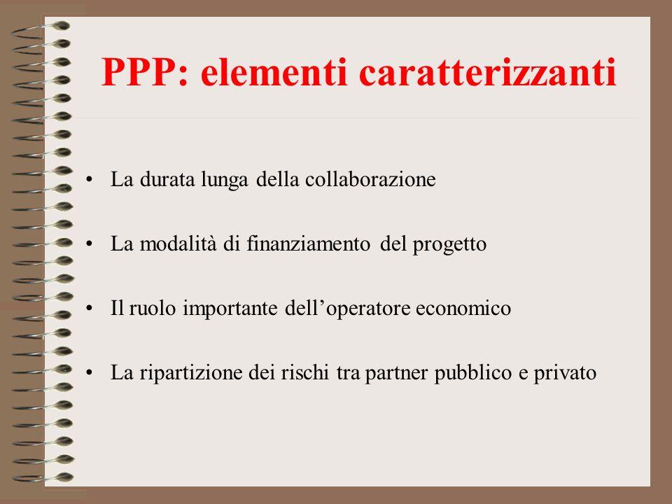 PPP: elementi caratterizzanti