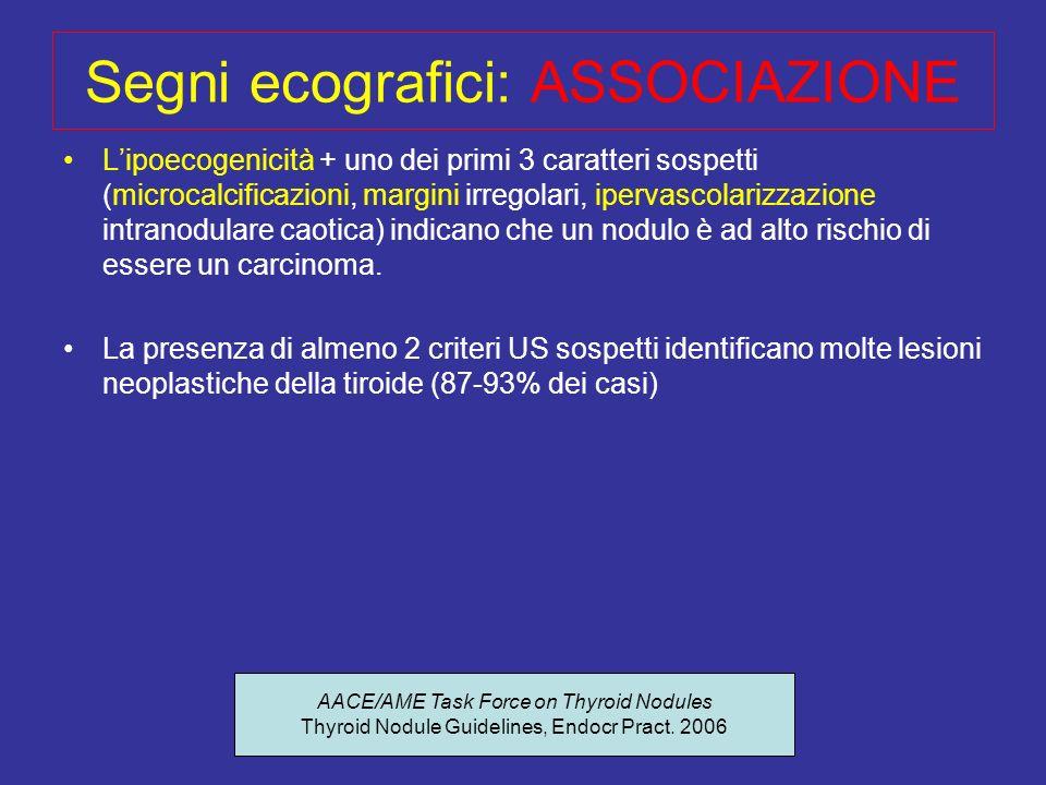 Segni ecografici: ASSOCIAZIONE