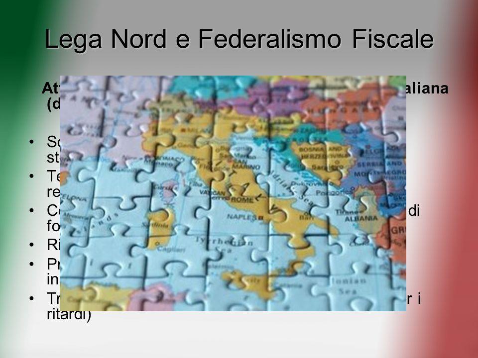 Lega Nord e Federalismo Fiscale
