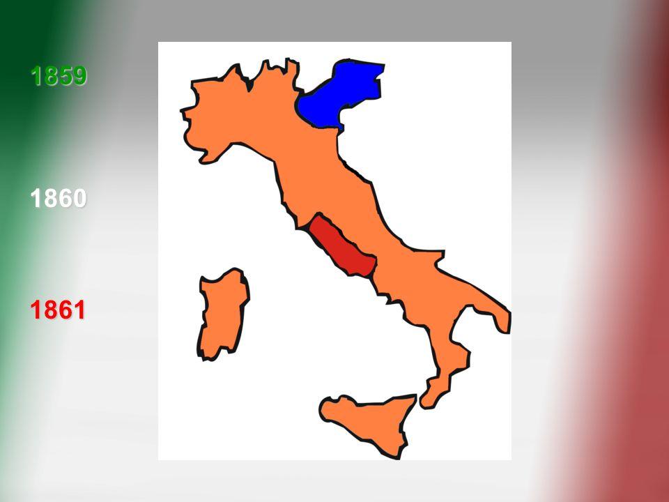 1859 1860. Ecco come nel biennio'59-'61 il Regno di Sardegna ha unificato sotto di sé tutta la penisola italiana.