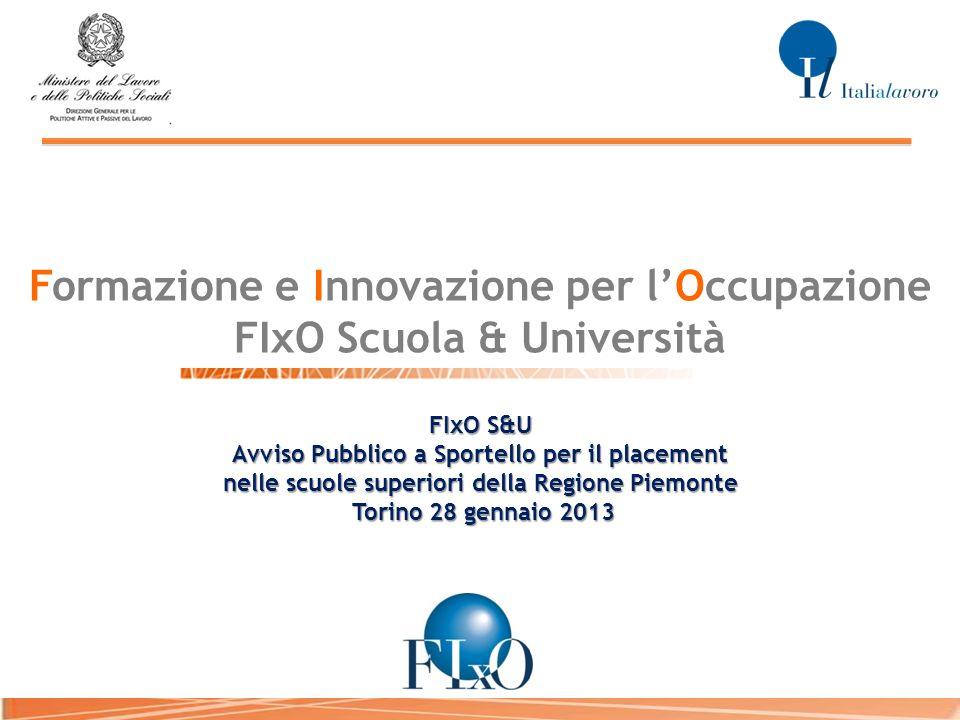 Formazione e Innovazione per l'Occupazione FIxO Scuola & Università