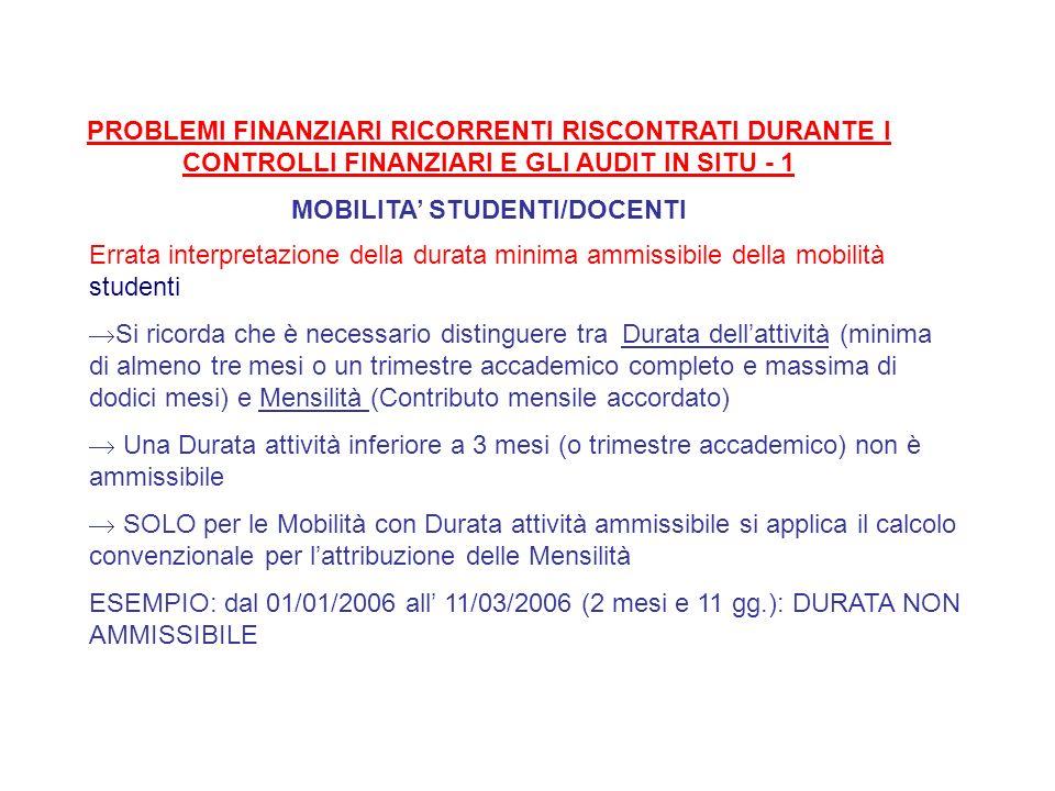 MOBILITA' STUDENTI/DOCENTI