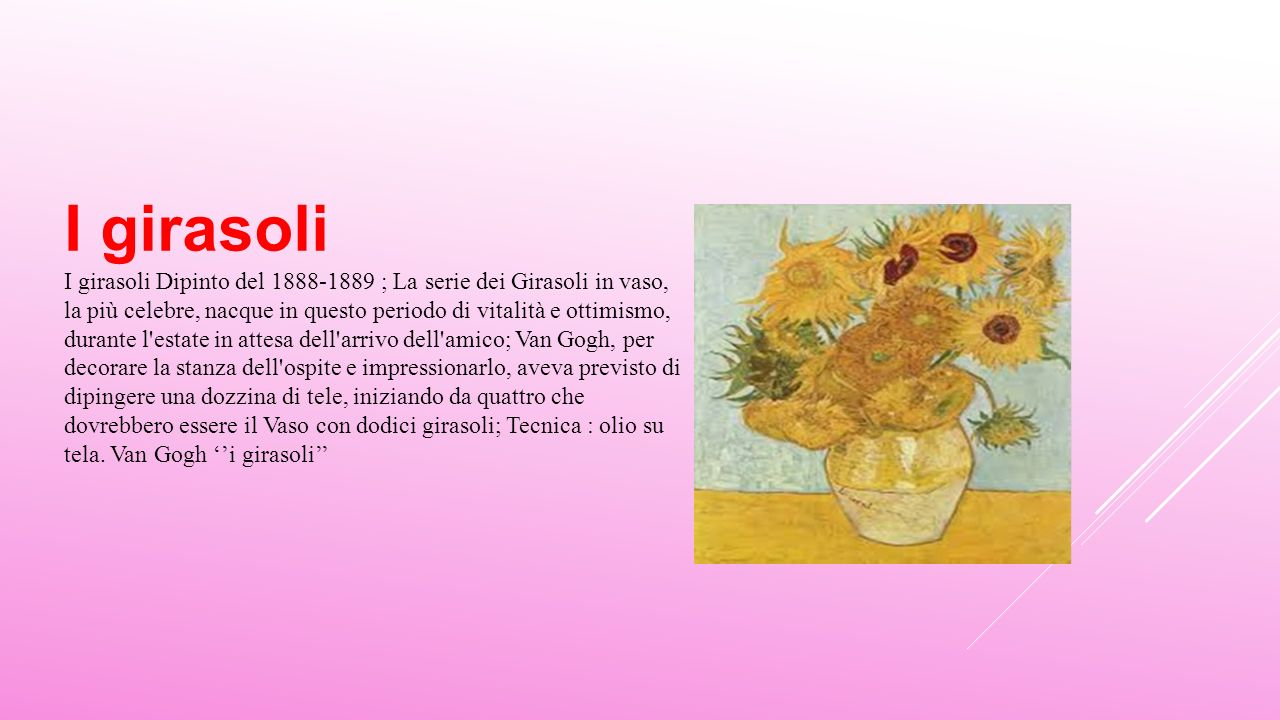 Tesina vincent van gogh ppt scaricare for Girasoli di van gogh da colorare