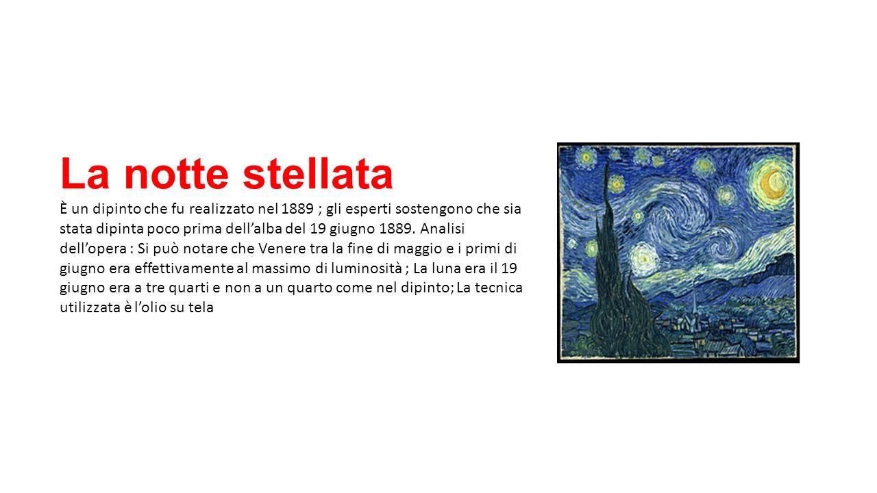 Tesina vincent van gogh ppt scaricare for La notte stellata