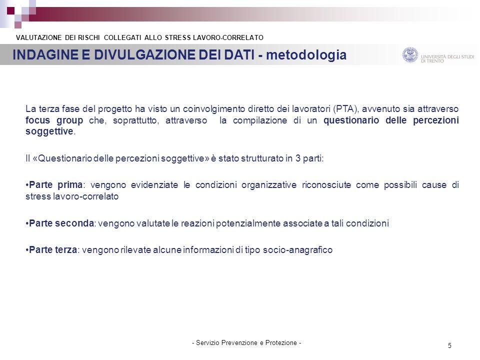 INDAGINE E DIVULGAZIONE DEI DATI - metodologia
