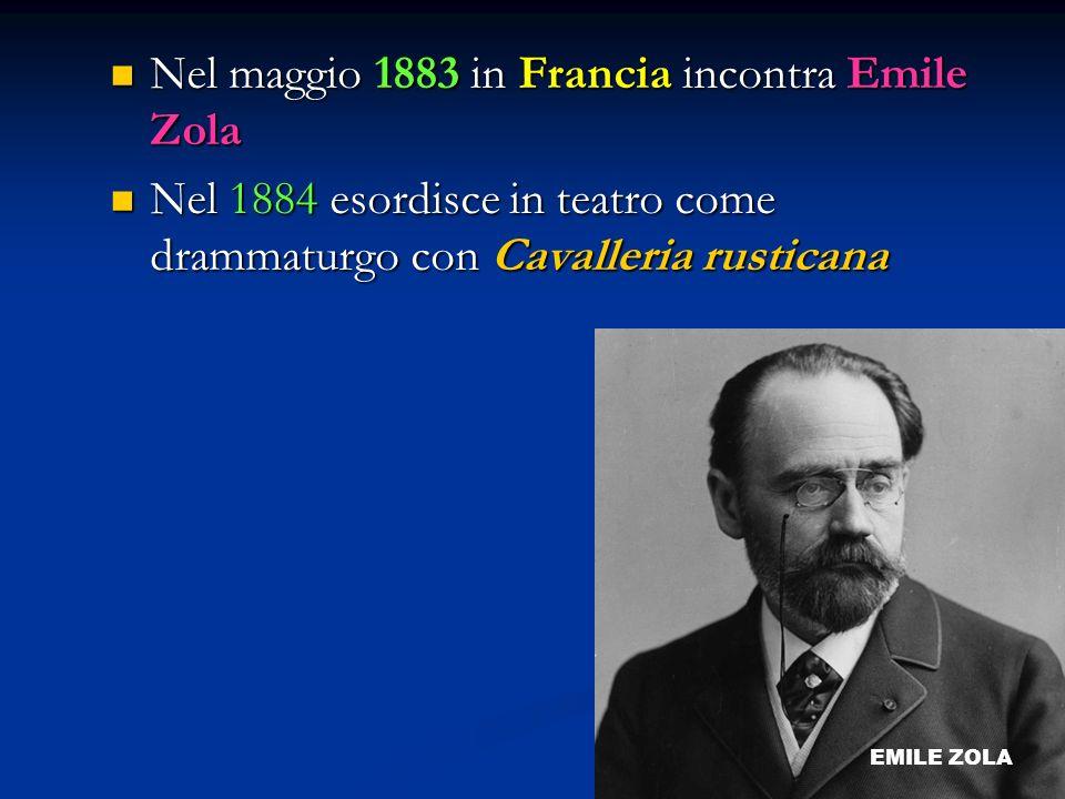 Nel maggio 1883 in Francia incontra Emile Zola