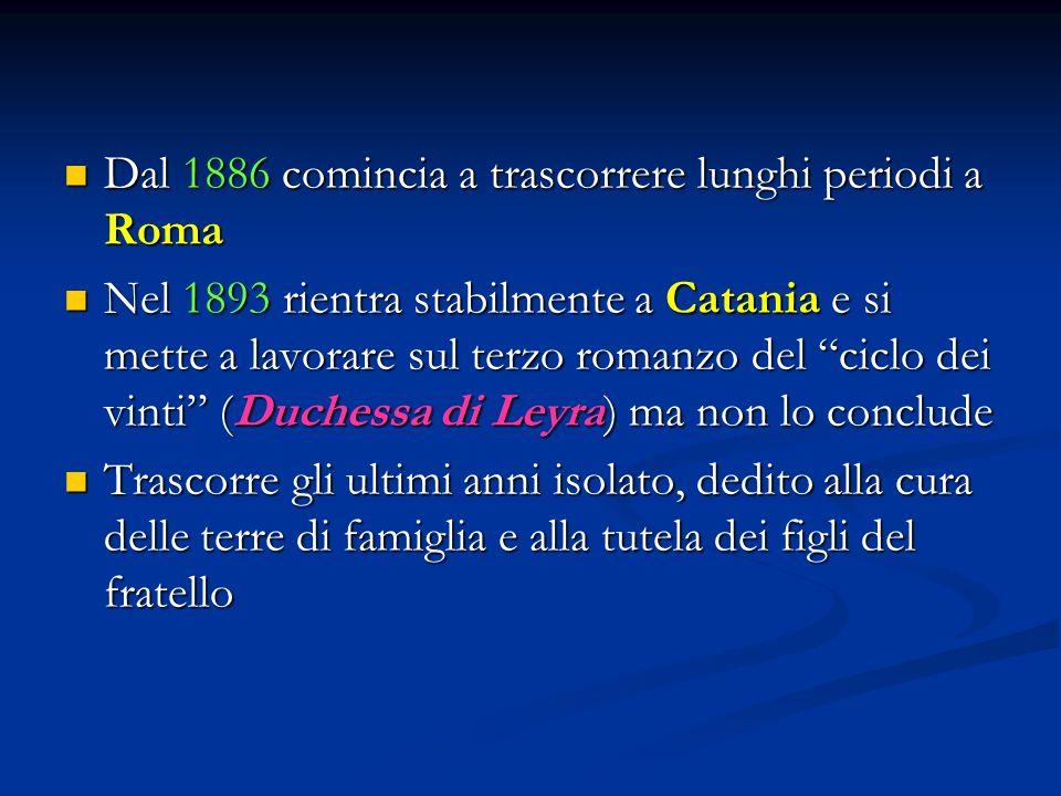 Dal 1886 comincia a trascorrere lunghi periodi a Roma