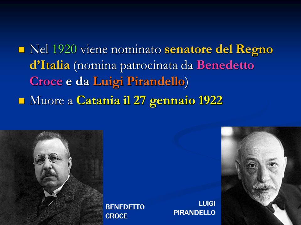 Muore a Catania il 27 gennaio 1922
