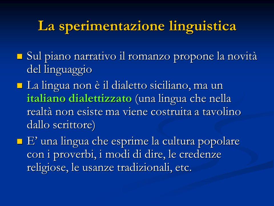 La sperimentazione linguistica