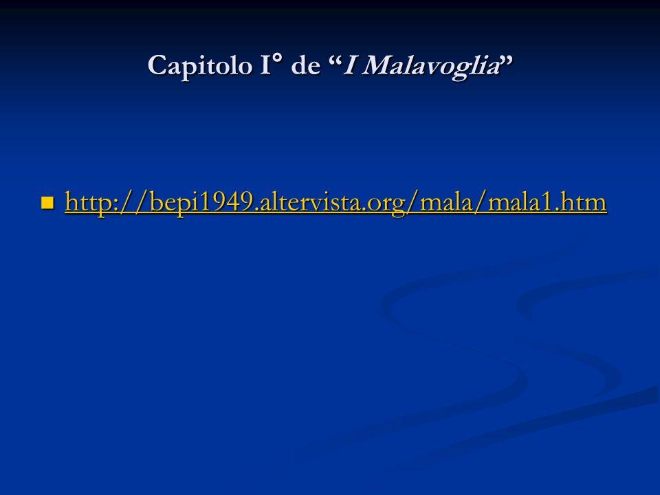 Capitolo I° de I Malavoglia