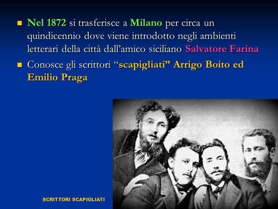 Conosce gli scrittori scapigliati Arrigo Boito ed Emilio Praga