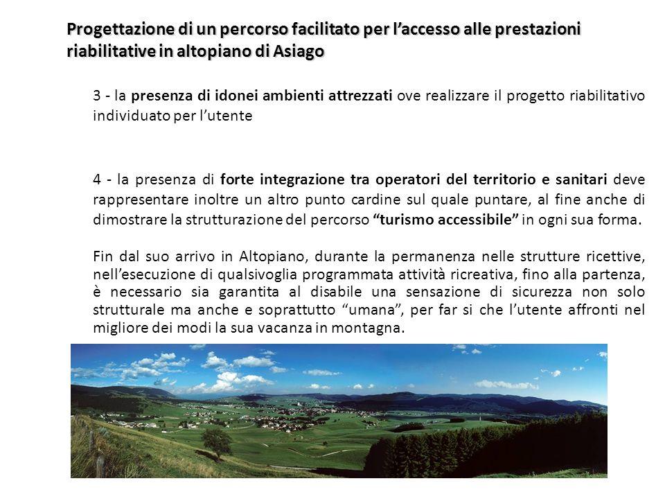 Progettazione di un percorso facilitato per l'accesso alle prestazioni riabilitative in altopiano di Asiago