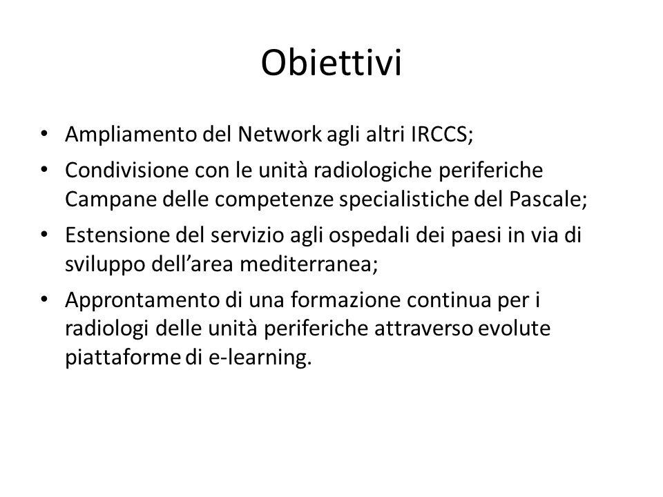 Obiettivi Ampliamento del Network agli altri IRCCS;