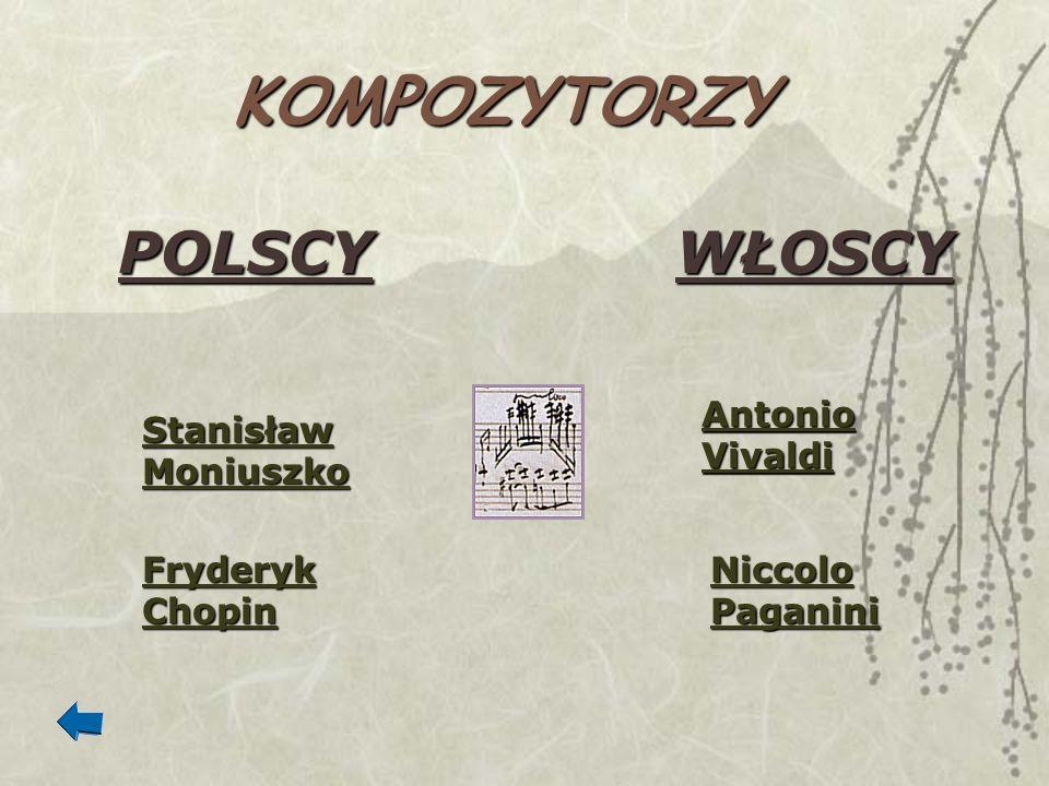 KOMPOZYTORZY POLSCY WŁOSCY Antonio Vivaldi Stanisław Moniuszko