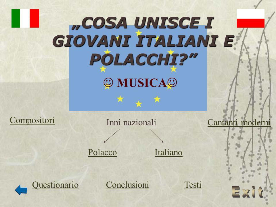 """""""COSA UNISCE I GIOVANI ITALIANI E POLACCHI"""