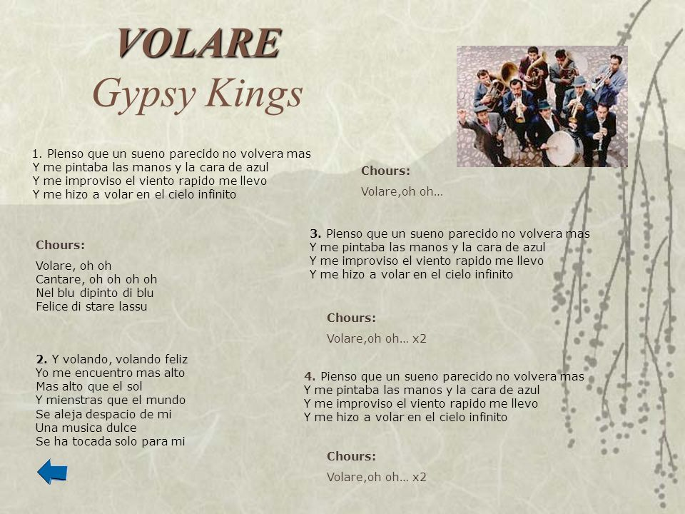 VOLARE Gypsy Kings