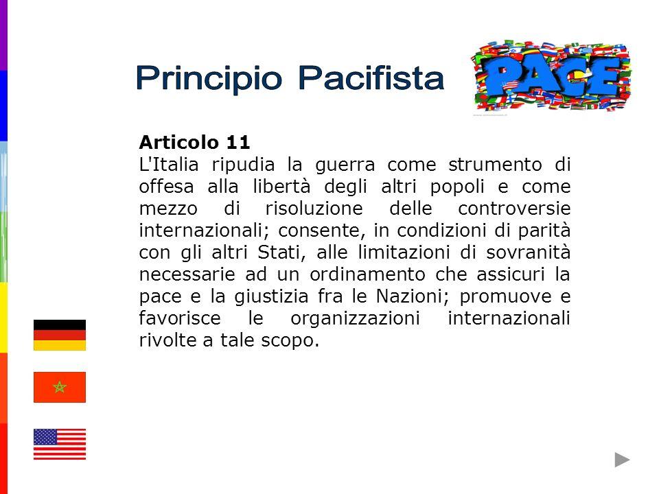 Principio Pacifista Articolo 11.
