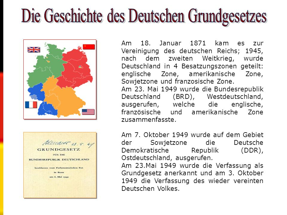 Die Geschichte des Deutschen Grundgesetzes