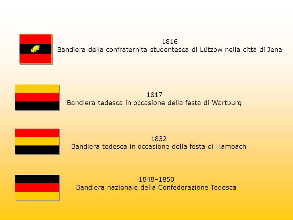 Bandiera della confraternita studentesca di Lützow nella città di Jena