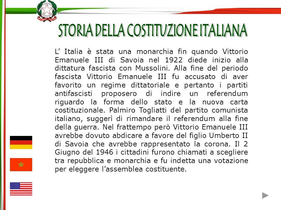 STORIA DELLA COSTITUZIONE ITALIANA