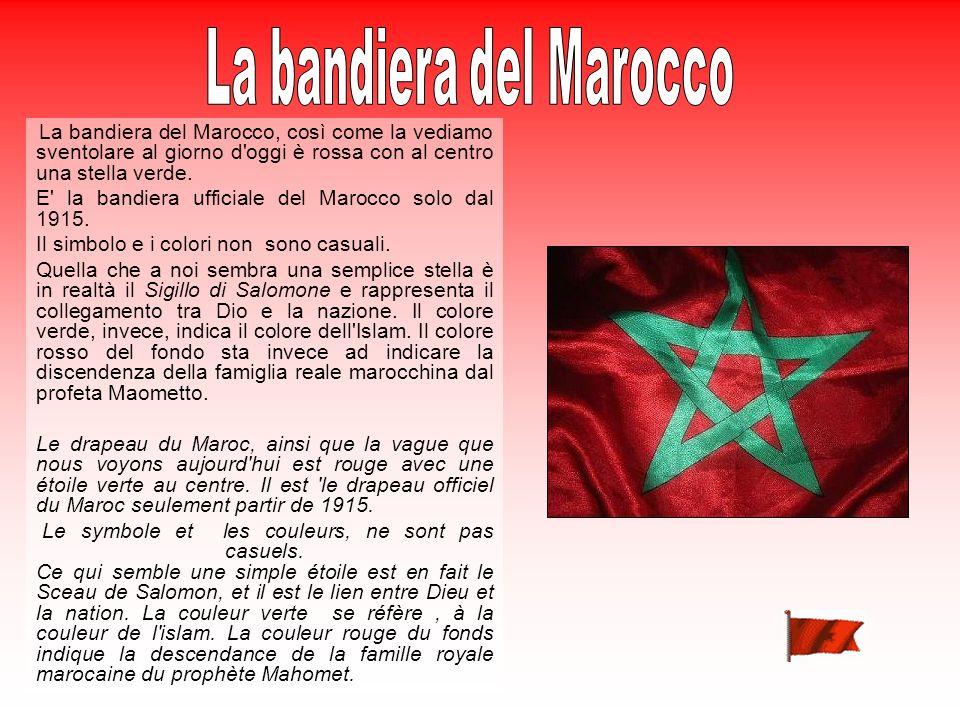 La bandiera del Marocco