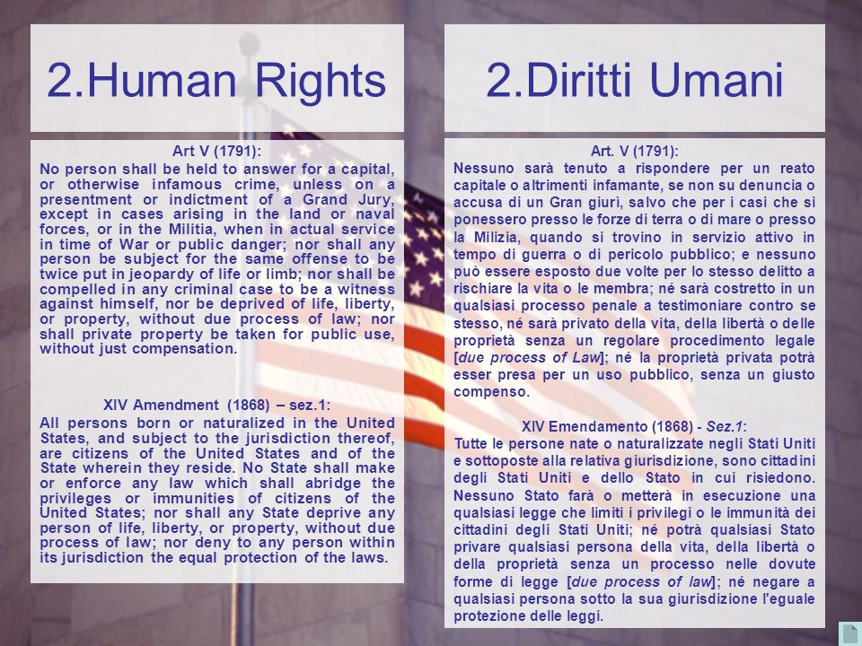 XIV Emendamento (1868) - Sez.1: