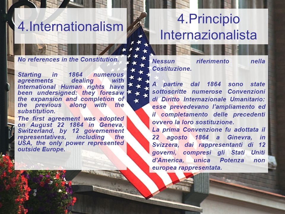 4.Principio Internazionalista