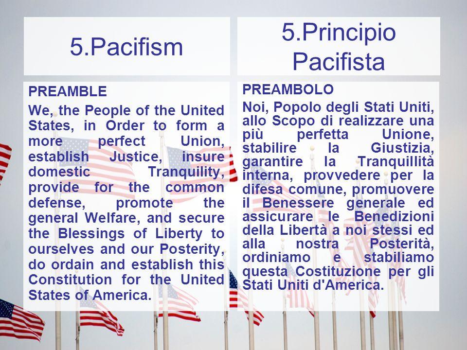 5.Principio Pacifista 5.Pacifism PREAMBLE