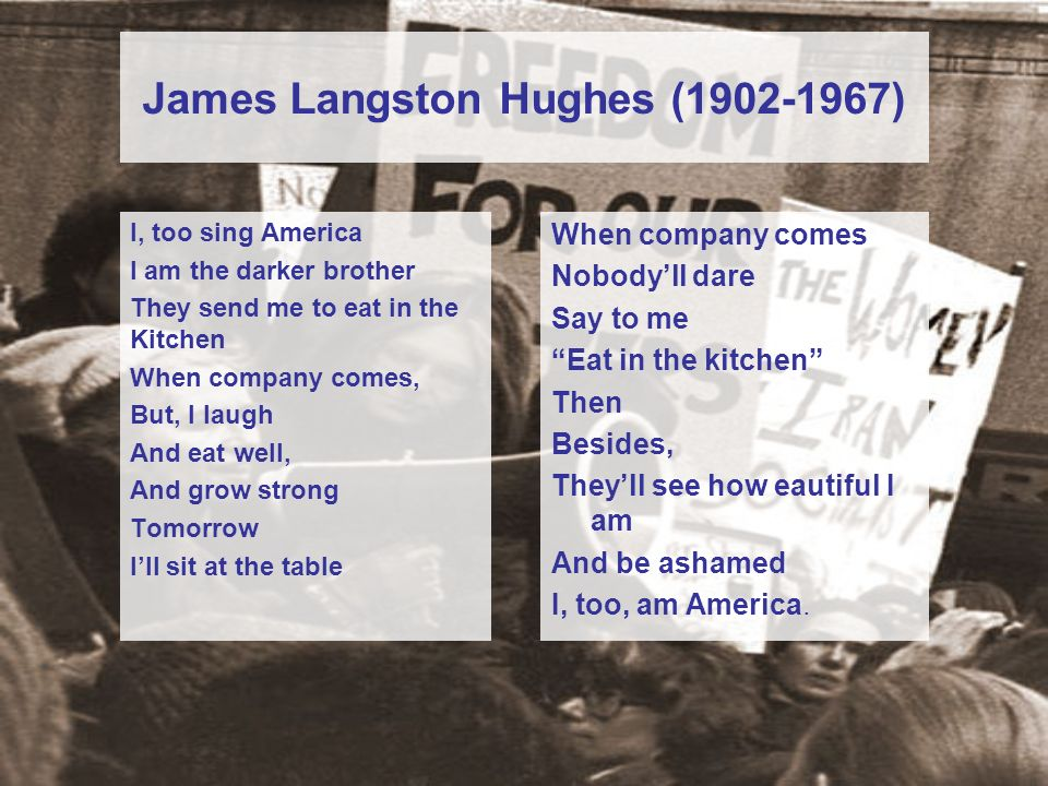 James Langston Hughes (1902-1967)