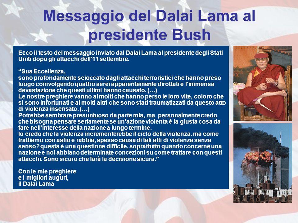 Messaggio del Dalai Lama al presidente Bush