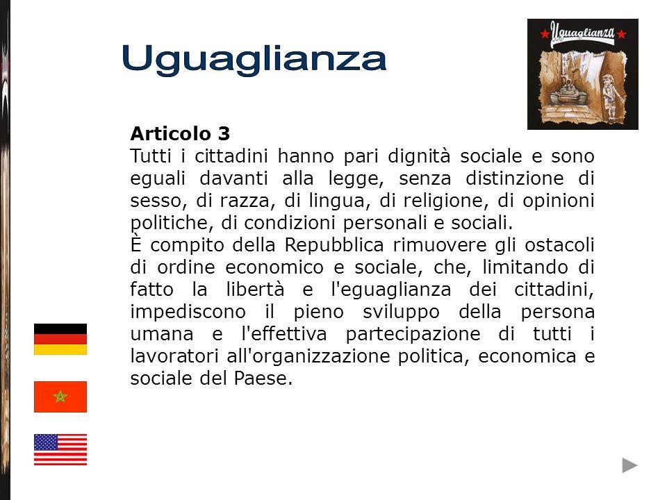 Uguaglianza Articolo 3.