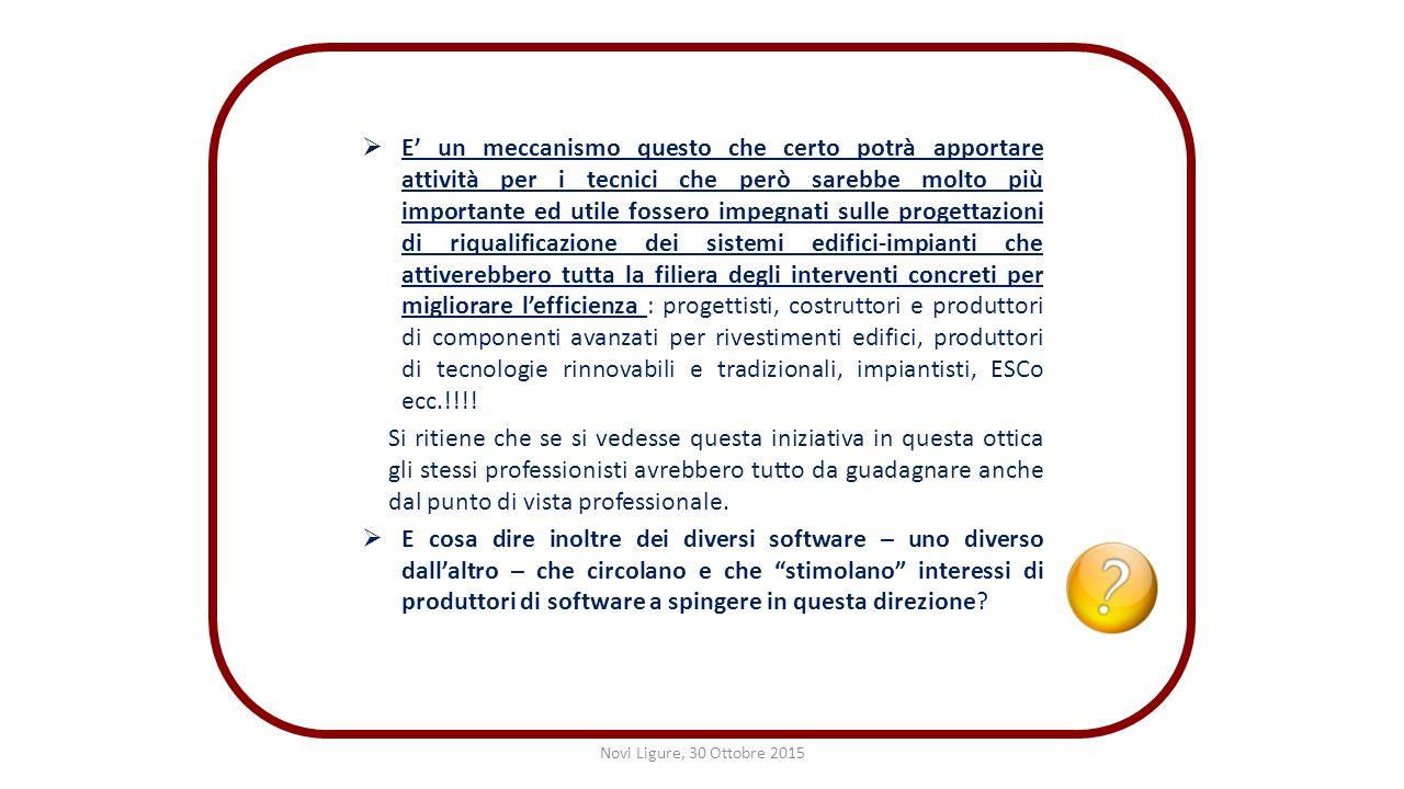 Novi ligure 30 ottobre 2015 incontro informativo su for Software di progettazione di edifici domestici