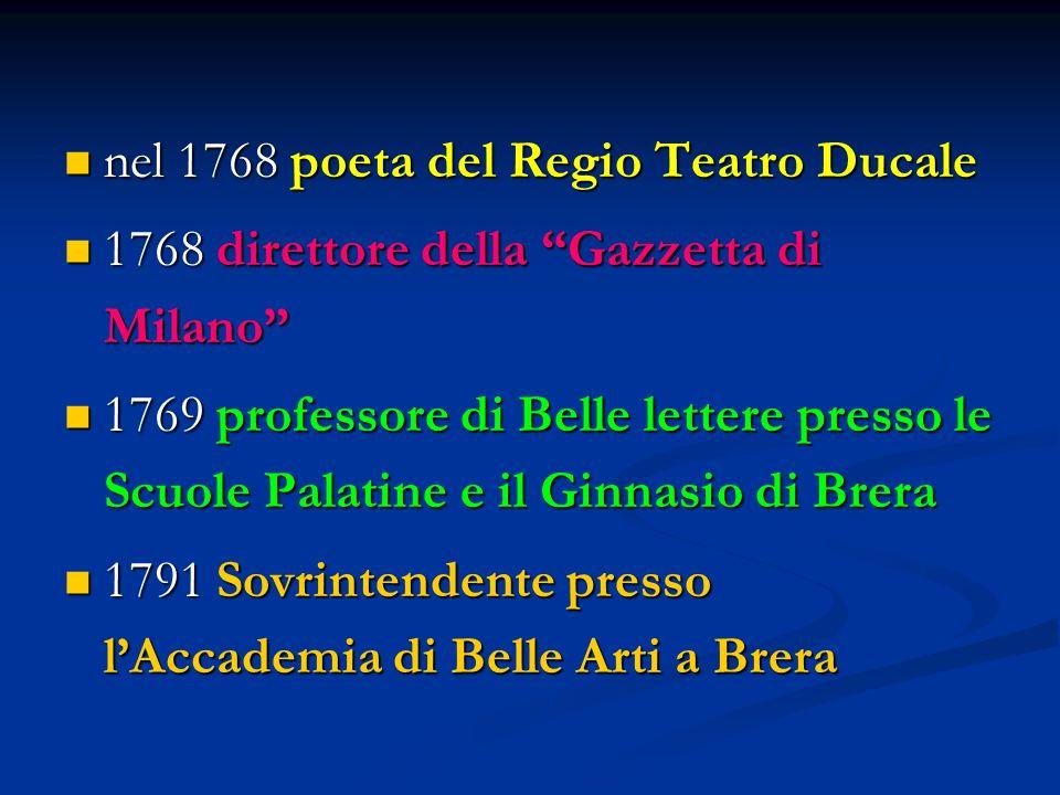 nel 1768 poeta del Regio Teatro Ducale