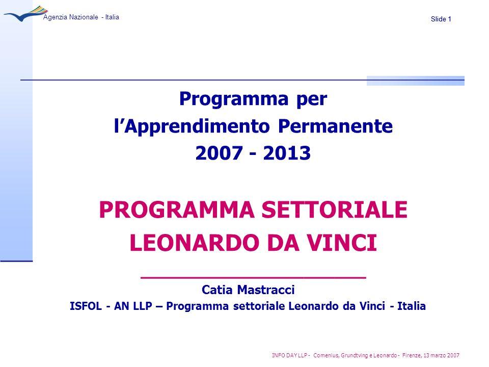 PROGRAMMA SETTORIALE LEONARDO DA VINCI