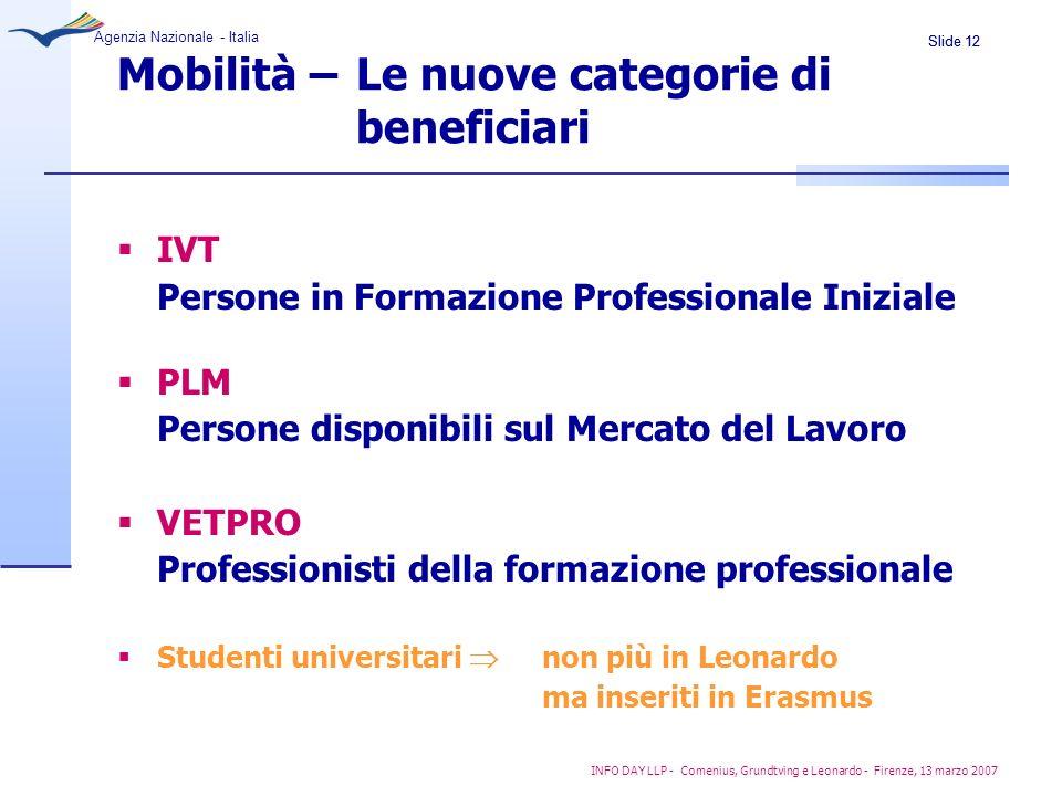 Mobilità – Le nuove categorie di beneficiari