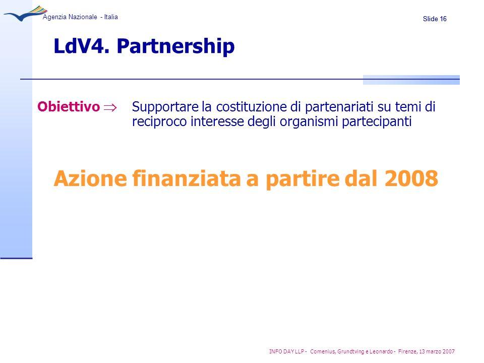 Azione finanziata a partire dal 2008