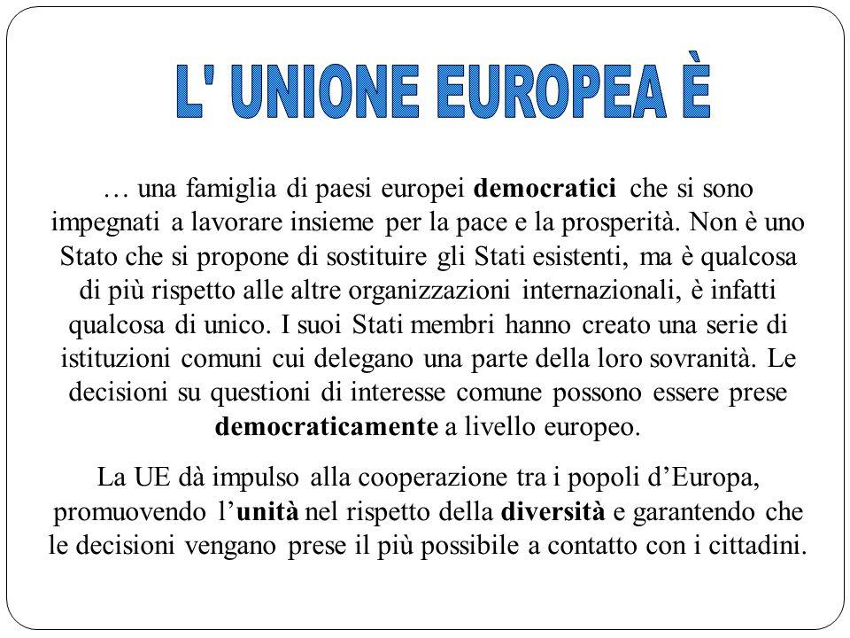 L UNIONE EUROPEA È