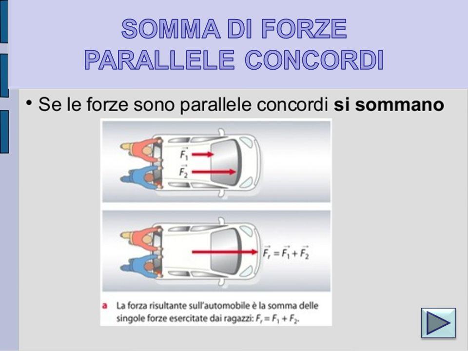SOMMA DI FORZE PARALLELE CONCORDI