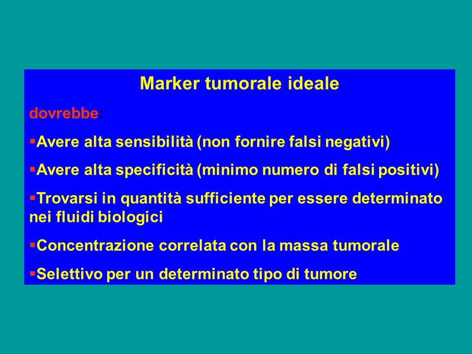 Marker tumorale ideale