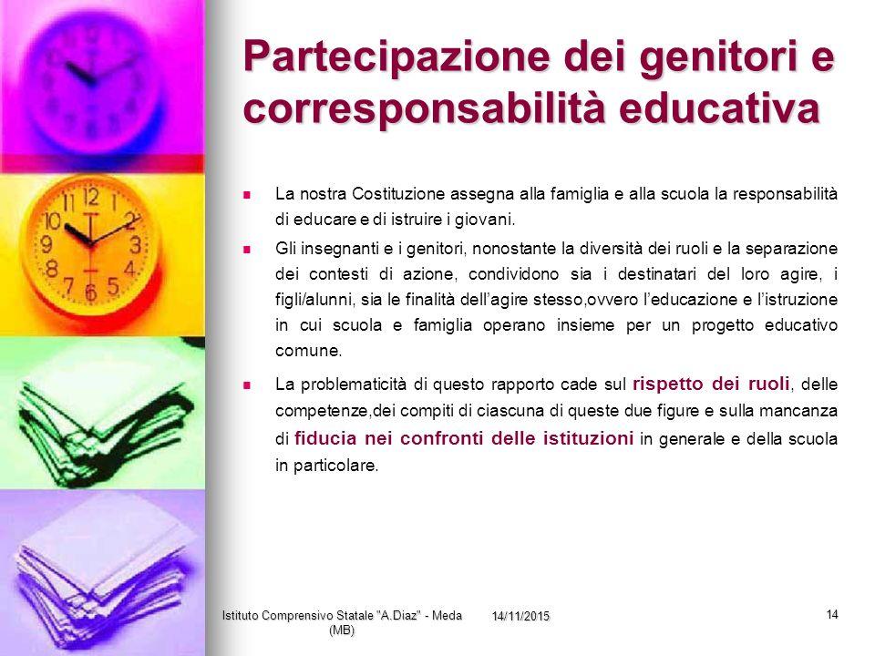 Partecipazione dei genitori e corresponsabilità educativa
